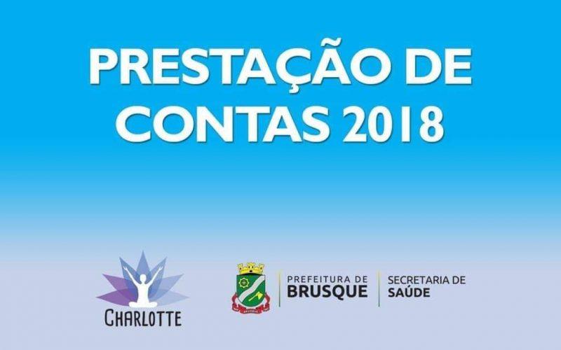 Prefeitura Municipal de Brusque Secretaria municipal de saúde- Brusque- SC Termo de colaboração 002/2018/SMS Quinta parcela R$ 8.000,00